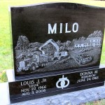 Etched Homestead of Milo Enterprises, Milwaukee Cemetery
